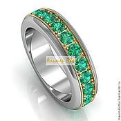 Украшения handmade. Livemaster - original item Roll`s gold ring with emeralds. Handmade.