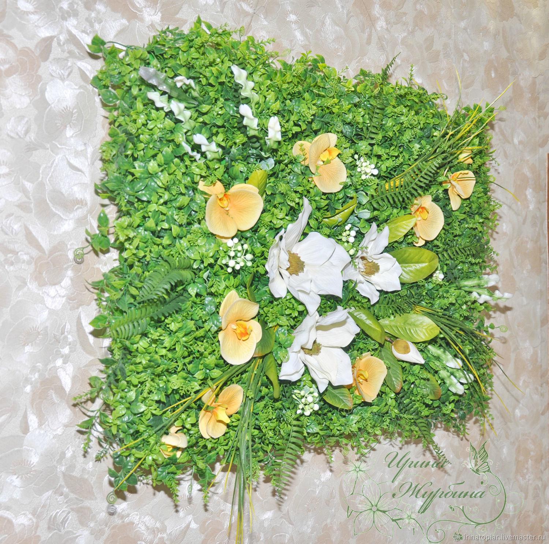 Настенное панно из искусственной зелени, Композиции, Ростов-на-Дону, Фото №1