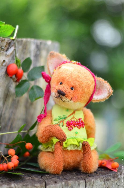 Мишки Тедди ручной работы. Ярмарка Мастеров - ручная работа. Купить Тедди лисичка Любава. Handmade. Тедди