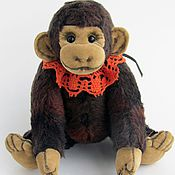 Куклы и игрушки ручной работы. Ярмарка Мастеров - ручная работа Обезьянка тедди  Джуди. (14 см). Handmade.