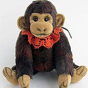 Куклы и игрушки handmade. Livemaster - original item Monkey Teddy Judy. (14 cm). Handmade.