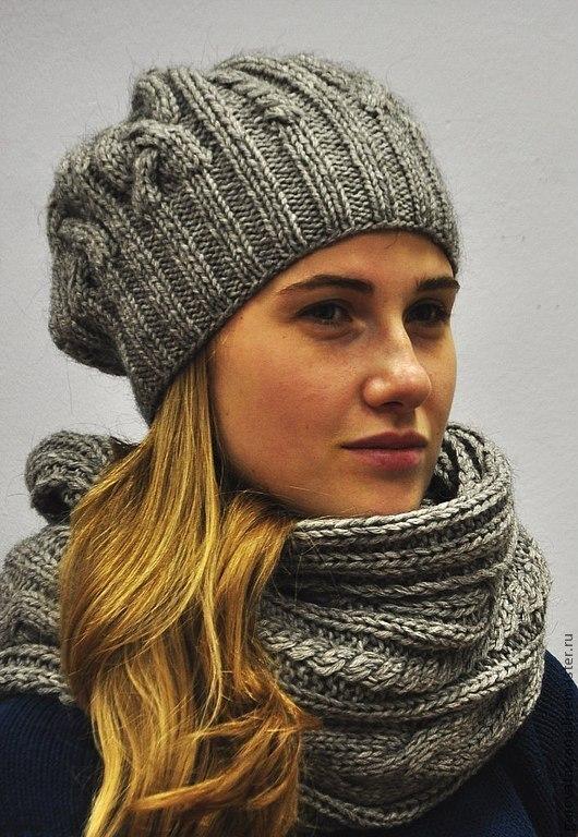 Связать шапку и шарф для женщины своими руками