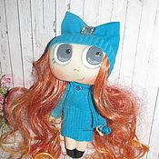 Куклы и игрушки ручной работы. Ярмарка Мастеров - ручная работа Большеглазка в голубом. Handmade.