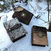Канцелярские товары ручной работы. Ярмарка Мастеров - ручная работа Три маленьких блокнота. Handmade.