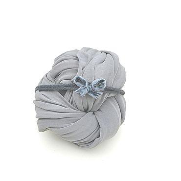 Работы для детей, ручной работы. Ярмарка Мастеров - ручная работа Трикотажная обмотка + повязочка бантик для фотосессии новорожденной. Handmade.