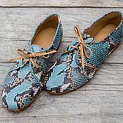 Обувь ручной работы handmade. Livemaster - original item Leather shoes Python. Boots genuine Python leather. Handmade.