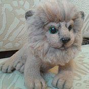 Куклы и игрушки ручной работы. Ярмарка Мастеров - ручная работа валяная игрушка львенок. Handmade.