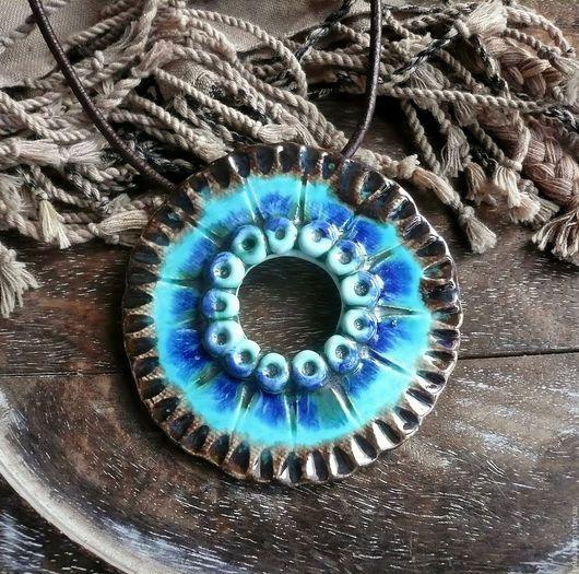 """Кулоны, подвески ручной работы. Ярмарка Мастеров - ручная работа. Купить """"Африка sea"""", подвеска, керамика ручной работы.. Handmade."""