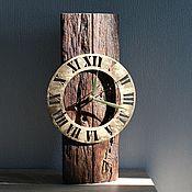 """Часы классические ручной работы. Ярмарка Мастеров - ручная работа Настенные часы """"Старое дерево"""". Handmade."""