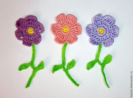 Аппликации, вставки, отделка ручной работы. Ярмарка Мастеров - ручная работа. Купить Аппликация цветы (3 цветка). Handmade.