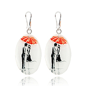 Украшения handmade. Livemaster - original item Earrings black and white