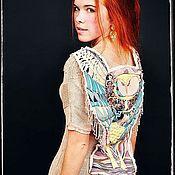 """Одежда ручной работы. Ярмарка Мастеров - ручная работа Платье """"Совы не то, чем кажутся"""" спицами из мериноса ультрафайн ручной. Handmade."""