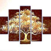 Картины и панно ручной работы. Ярмарка Мастеров - ручная работа полиптих Дерево. Handmade.