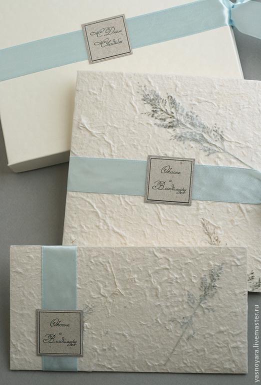 Подарки на свадьбу ручной работы. Ярмарка Мастеров - ручная работа. Купить Подарочный комплект на свадьбу Травы (мятлик). Handmade. Голубой
