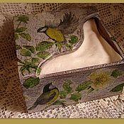 Для дома и интерьера ручной работы. Ярмарка Мастеров - ручная работа салфетница Синички. Handmade.