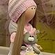 Коллекционные куклы ручной работы. Текстильная куколка ручной работы Викуся. Юлия Соколова. Ярмарка Мастеров. Кукла интерьерная, бусины