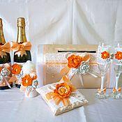 """Свадебный салон ручной работы. Ярмарка Мастеров - ручная работа Коллекция свадебных аксессуаров """"Шампань"""" в персиковом цвете. Handmade."""
