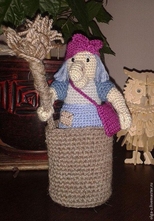 Сказочные персонажи ручной работы. Ярмарка Мастеров - ручная работа. Купить Баба-Яга. Handmade. Игрушка, баба яга, человечки