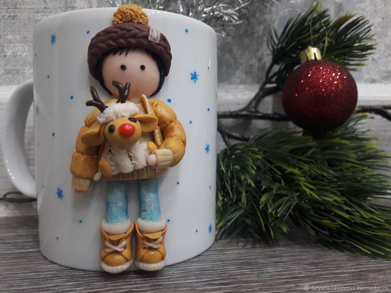 Кружка с декором из полимерной глины, Кружки, Абакан,  Фото №1
