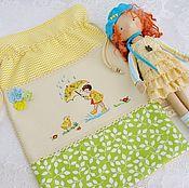 Работы для детей, handmade. Livemaster - original item Pajamas for girls (hand embroidery). Handmade.