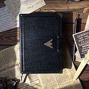 "Канцелярские товары handmade. Livemaster - original item Personalized notebook with a ""Safari"" strap. Handmade."