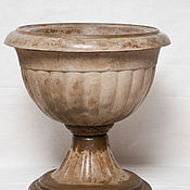 Для дома и интерьера handmade. Livemaster - original item Antique vase made of concrete, terracotta, pot-glass pot garden. Handmade.
