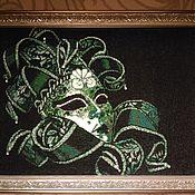 """Картины и панно ручной работы. Ярмарка Мастеров - ручная работа картина, вышитая  бисером """"Маска"""". Handmade."""