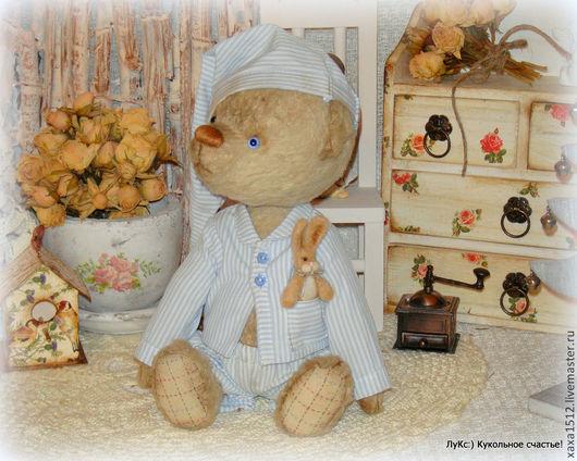 Мишки Тедди ручной работы. Ярмарка Мастеров - ручная работа. Купить тедди миш Альфред и мистер Джинкл. Handmade. Бежевый
