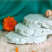 """Косметика ручной работы. Ярмарка Мастеров - ручная работа соляное мыло с нуля для жирной  и проблемной кожи """"Морской прибой. Handmade."""