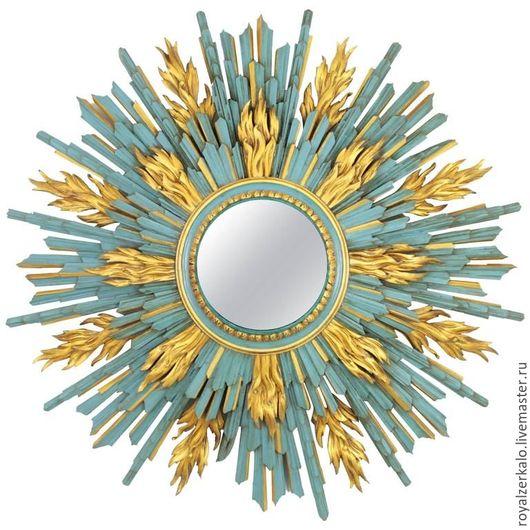 Зеркала ручной работы. Ярмарка Мастеров - ручная работа. Купить Зеркало солнце Altair. Handmade. Зеркало, интерьер гостиной