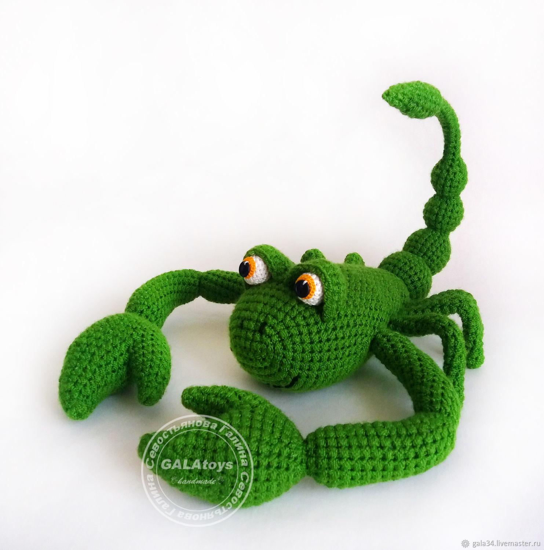 Скорпион. Вязаная игрушка на каркасе, Мягкие игрушки, Волгоград,  Фото №1