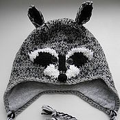 Аксессуары handmade. Livemaster - original item Hat Raccoon hat Creative Youth. Handmade.