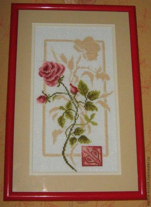 Картины цветов ручной работы. Ярмарка Мастеров - ручная работа. Купить Красота в отражении. Handmade. Разноцветный, вышитая картина крестиком