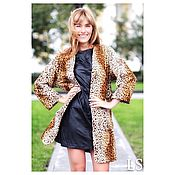 Одежда handmade. Livemaster - original item Coat cardigan long jacket, leopard. Handmade.