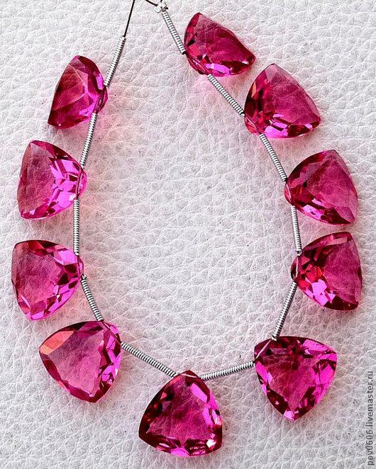 Для украшений ручной работы. Ярмарка Мастеров - ручная работа. Купить Кварц розовый (триллион). Handmade. Розовый, кварц триллион