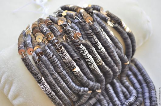 Вышивка ручной работы. Ярмарка Мастеров - ручная работа. Купить Пайетки  5 мм, Франция. Handmade. Коричневый, пайетки