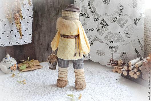 """Народные куклы ручной работы. Ярмарка Мастеров - ручная работа. Купить кукла Мужик для дела """"Липовый мёд"""".. Handmade. Желтый"""