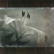 Картины ручной работы. Ярмарка Мастеров - ручная работа Лилия 40х60 Эгломизе. Работа выполняется под заказ. Handmade.