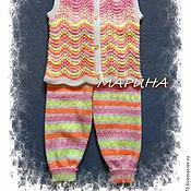 """Работы для детей, ручной работы. Ярмарка Мастеров - ручная работа """"МОЙ КОТЁНОК"""" комплект вязанный жилет штанишки. Handmade."""