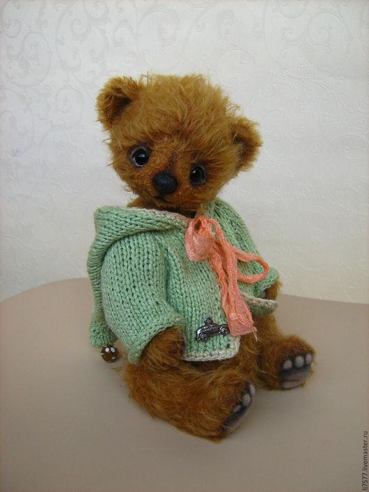 Мишки Тедди ручной работы. Ярмарка Мастеров - ручная работа. Купить Павлуша. Handmade. Рыжий, кофточка, глазки стеклянные