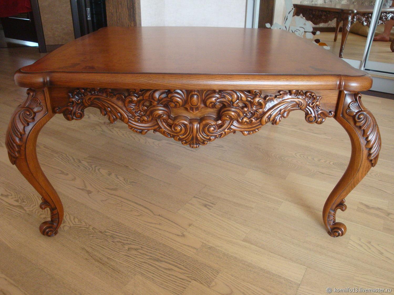 резные столы из дерева фото можно установить под