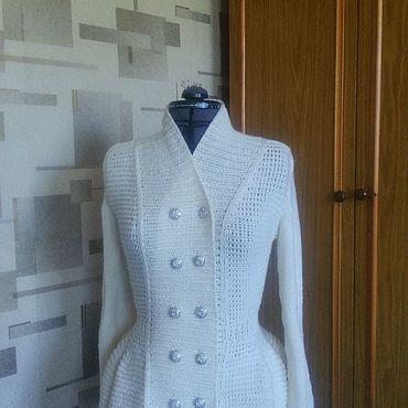 Одежда ручной работы. Ярмарка Мастеров - ручная работа Жакеты: Жакет с баской. Handmade.