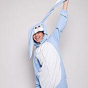 """Одежда ручной работы. Ярмарка Мастеров - ручная работа Пижама кигуруми """"Голубой Кролик"""" (хлопок). Handmade."""