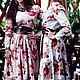 """Платья ручной работы. Ярмарка Мастеров - ручная работа. Купить Длинное платье """"Цветы и кожа"""". Handmade. Бежевый, платье в пол"""