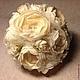 Свадебные цветы ручной работы. Ярмарка Мастеров - ручная работа. Купить Cвадебный букет из цветов из ткани. Handmade. Белый, тюль