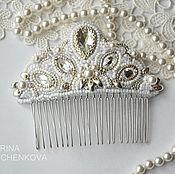 Свадебный салон ручной работы. Ярмарка Мастеров - ручная работа Свадебный гребень. Handmade.