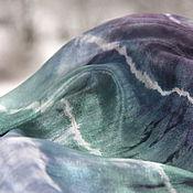 Аксессуары ручной работы. Ярмарка Мастеров - ручная работа Шелковый палантин Город, над вольной Невой  шелковый шарф. Handmade.