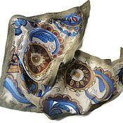 Аксессуары handmade. Livemaster - original item Batik Bacchus felted Patterns. Handmade.