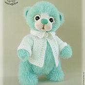 Куклы и игрушки ручной работы. Ярмарка Мастеров - ручная работа Мятный медвежонок - вязаная игрушка. Handmade.
