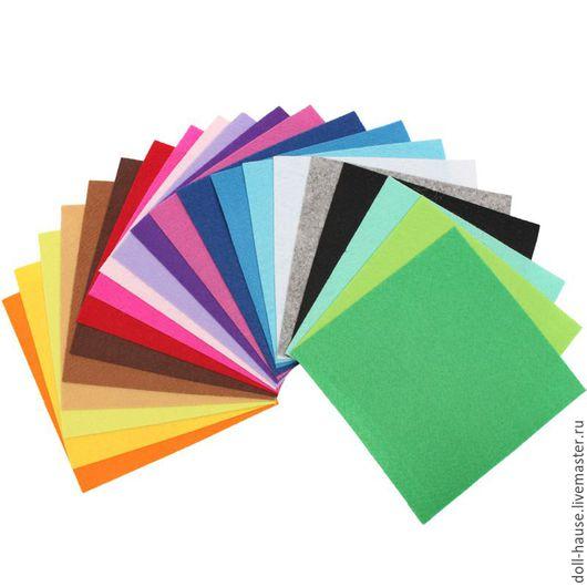 Валяние ручной работы. Ярмарка Мастеров - ручная работа. Купить Набор фетра, 21 цвет, 15х15 см. Handmade. Комбинированный